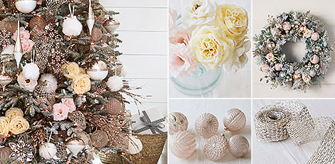 Shop the Winter Wishes decorating theme with sparkling holiday accents from our collection of winter-themed decorations.
