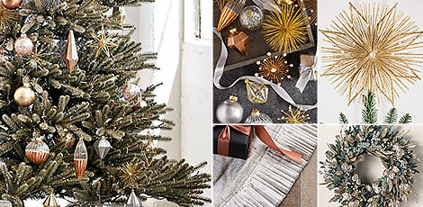 Shop the Nicole Miller decorating theme with the metallic and glittery accents of our Nicole Miller Christmas decorations.