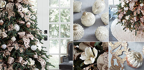 Shop the French Country decorating theme with our collection of gold, champagne and ivory accents.